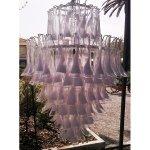 Lampadario a calle in vetro di Murano